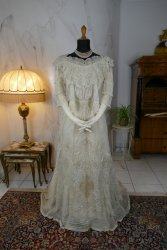 antique evening dress 1898