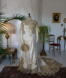 antique evening dress WORTH 1898