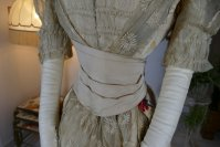 6 antique LEROUX Ball gown 1890