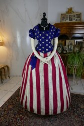 antique independence day ball gown 1866