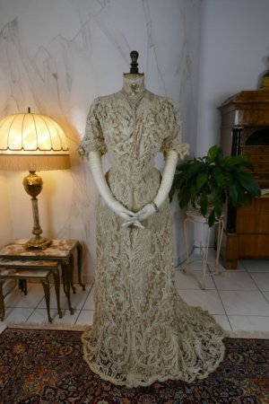 antique ALTMANN Battenburg lace dress 1904