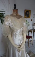 12 antique edwardian wedding dress 1909