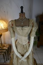 3 antique LEROUX Ball gown 1890
