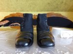 5 antique mens high button shoes