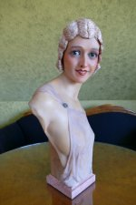 10 antique Pierre Imans wax mannequin 1920
