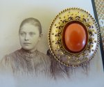 19 antique brooch 1870