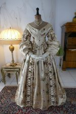 2 antique court dress 1838