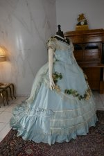 41a antique victorian ball gown 1859