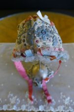 2 antique baby bonnet 1760