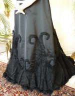 8a antique Worth evening dress 1898