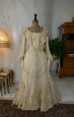 2 antique society dress 1901