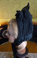 7 antique mourning bonnet
