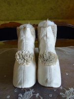 3 antique wedding boots 1845