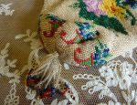 4 antique beaded purse