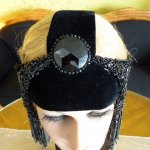 4 antique flapper headpice 1920