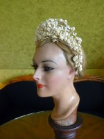 7 antique wax tiara 1912