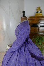 12 antique crinoline dress 1860
