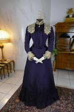 2 antique Madame Percy Visiting gown 1898