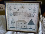2 antique sampler 1837
