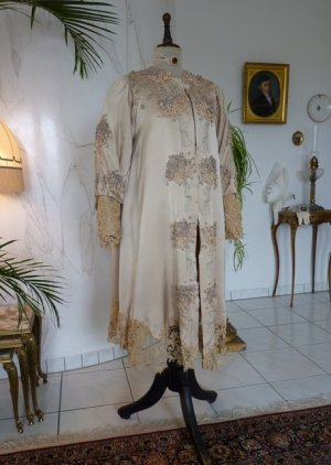 antique silk coat 1906