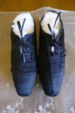 2 antique slippers 1850