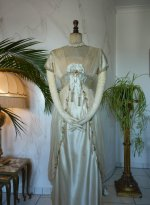 10 antique WORTH Evening Gown 1906