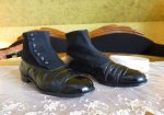 2 antique mens high button shoes
