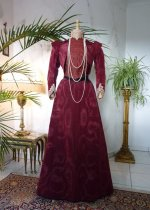 2 antique-walking-gown