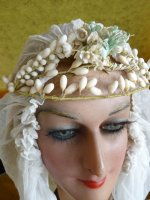 4 antique wax tiara 1920