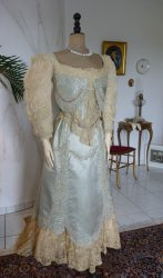 8 antique evening gown Worth 1894