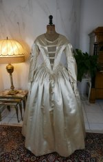 2 antique wedding dress 1845