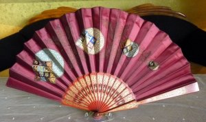 antique folding fan 1905