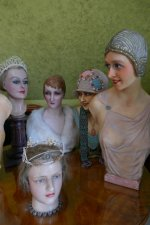5 antique mannequins
