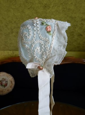 antique baby bonnet 1910