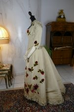20 antique bustle dress 1880