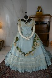 antique victorian ball gown 1859