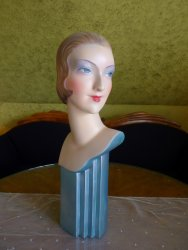 antique shop display mannequin 1927