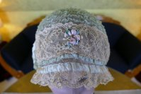 3 antique boudoir Bonnet 1920