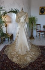 33 antique evening dress WORTH 1898