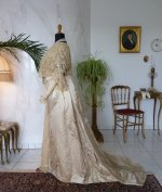 23 antique evening gown Worth 1910