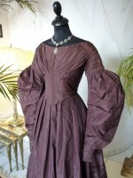3 antique romantic period gown 1837