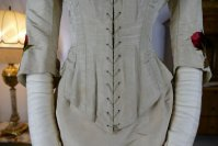 8 antique bustle dress 1880