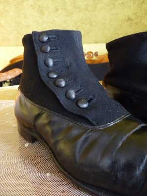 antique mens high button shoes