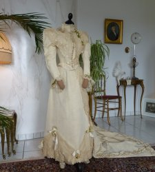 antique wedding Gown 1895
