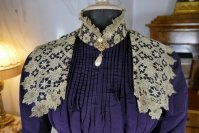 5 antique Madame Percy Visiting gown 1898
