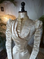 3 antique ROUFF Wedding Dress 1896