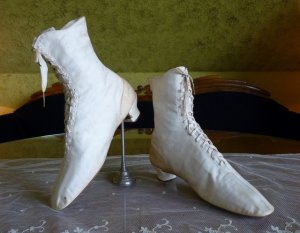 antique wedding boots 1875