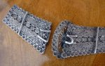 6 antique silver belt buckle