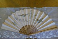 2 antique bird fan 1905