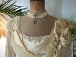 15 antique evening gown JEANNE HALLE 1899